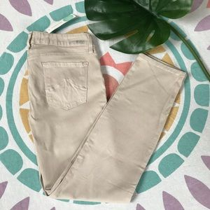 Level 99 Lily Skinny Straight Jean, Tan, NWT